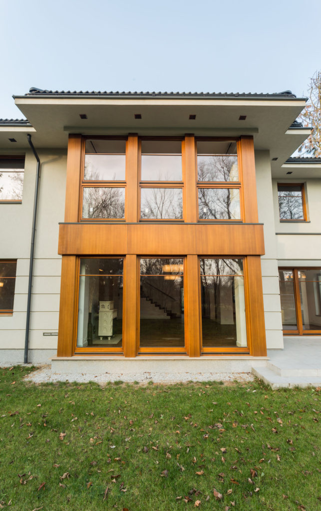 35980352 - fasade of luxury mansion with big windows